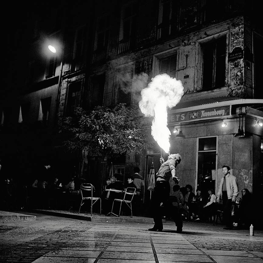 <i>Cracheur de feu</i>, Paris, 1980.  Photograph by George McClintock